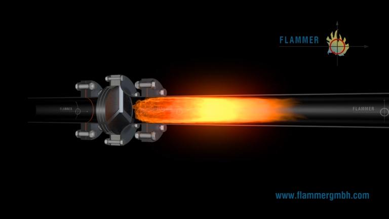 Flammer - Flammendurchschlagssicherung in Aktion