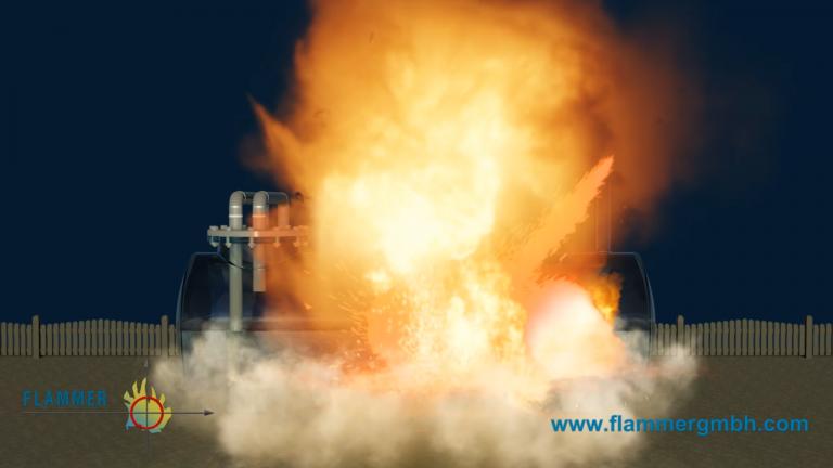 Flammer - Ungeschützte Tankexplosion ohne Endarmatur