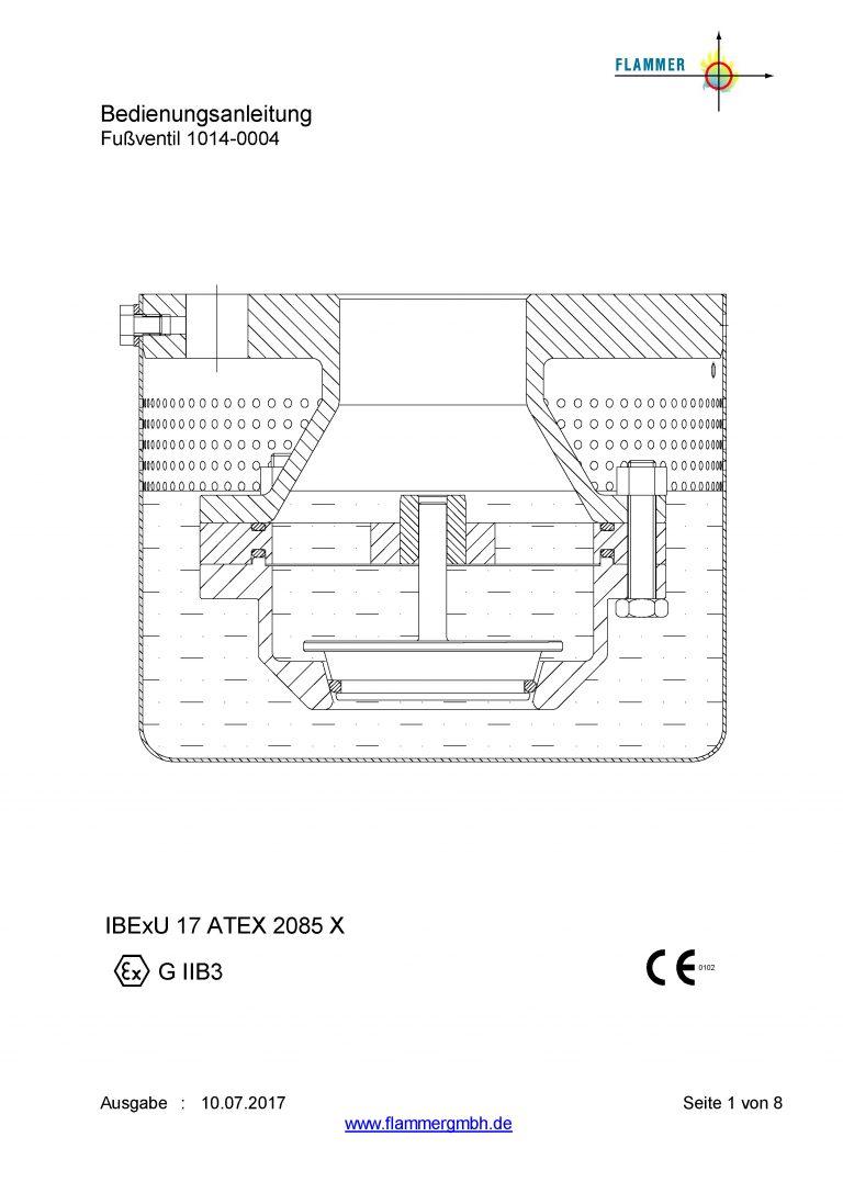 Bedienungsanleitung Fußventil 1014-0004