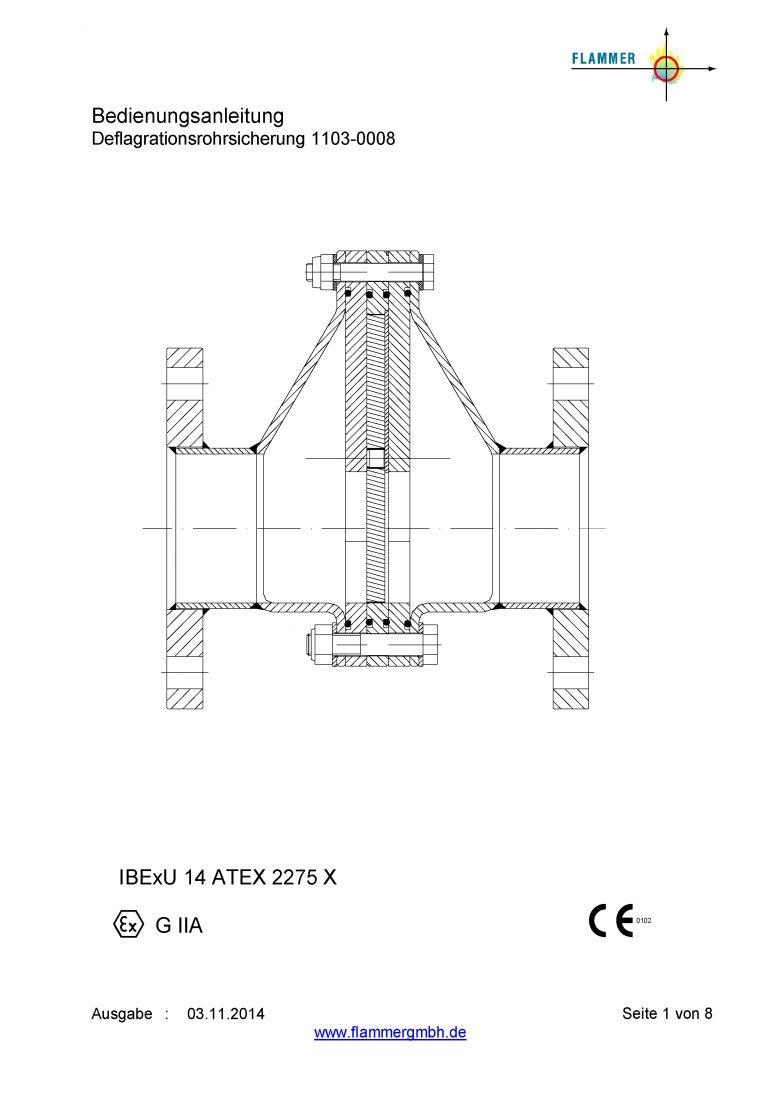 Bedienungsanleitung Detonationsrohrsicherung 1103-0008