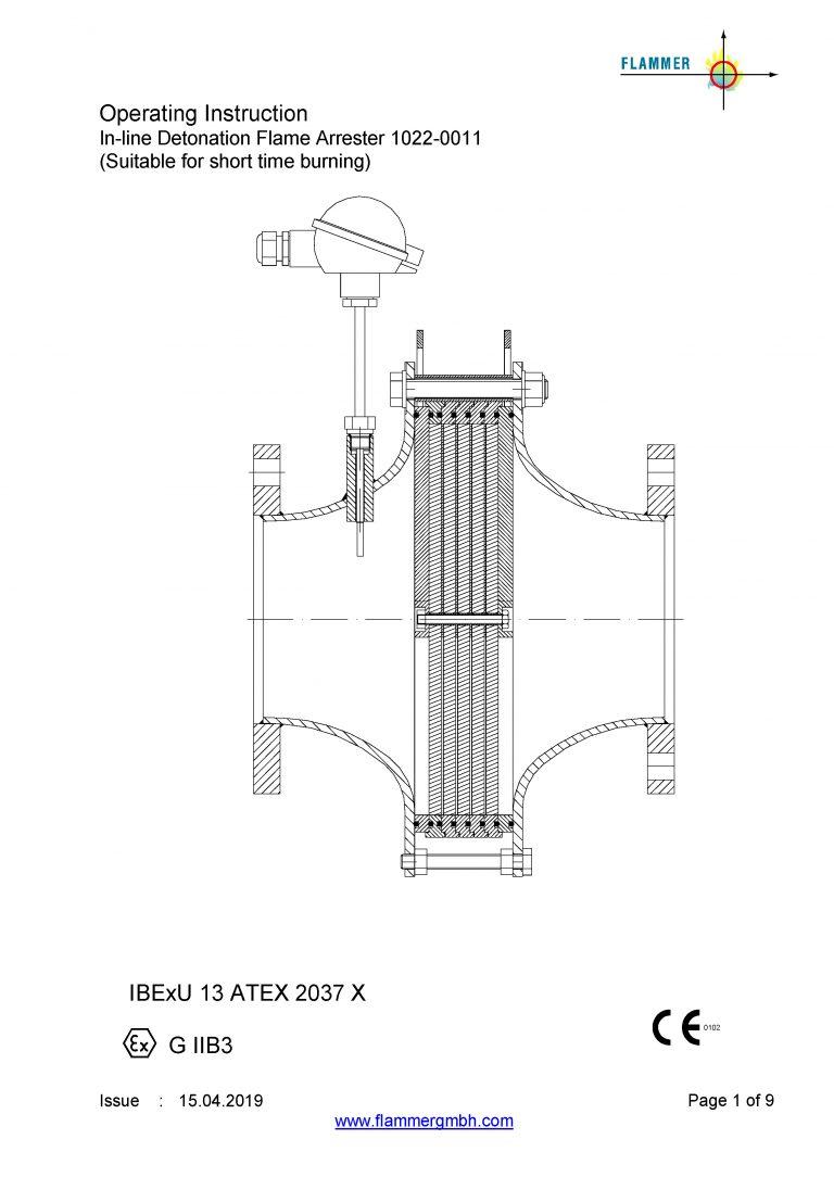 Operating Instruction 1022-0011